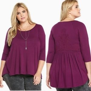 Torrid | EMBROIDERED BACK TUNIC TOP